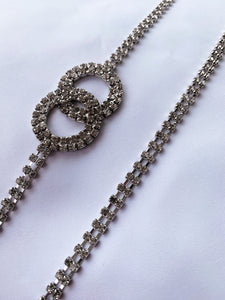 Double-O Rhinestone Chain Belt - Finding July