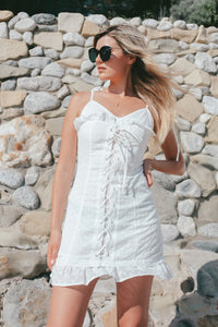 Laguna Lace Up Dress - Finding July