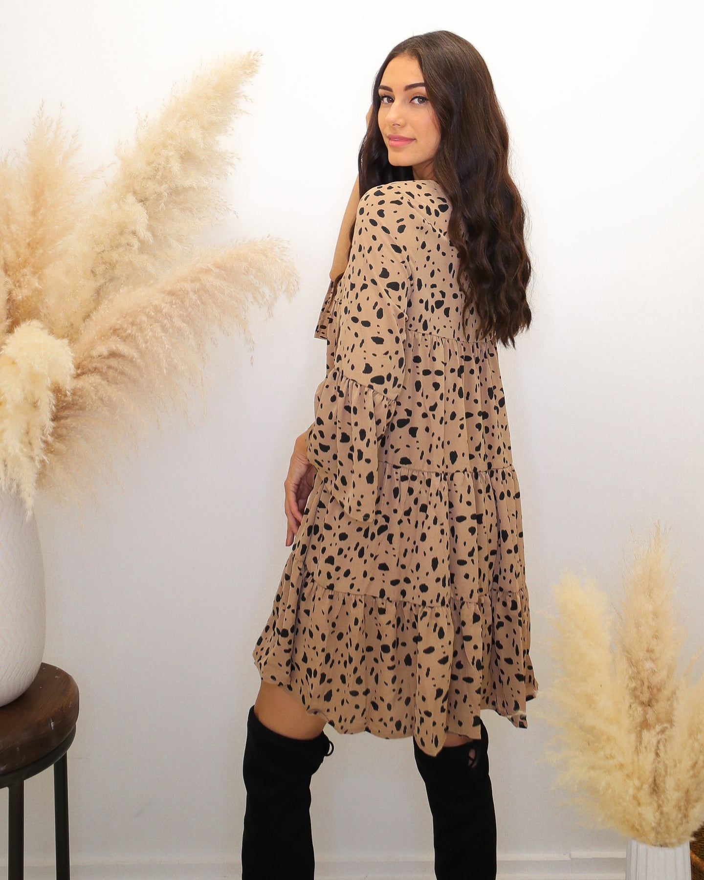 Let It Flow Leopard Tiered Dress - Finding July