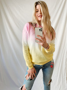 Pink Lemonade Ombre Sweatshirt - Finding July