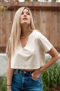 The Perfect Cropped Tee - Finding July