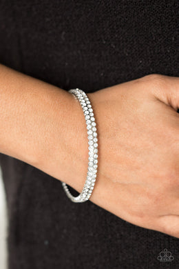 Decked Out In Diamonds - White - Paparazzi Accessories