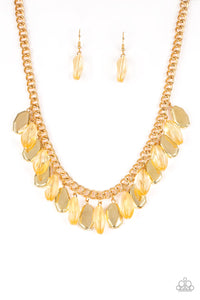 Fringe Fabulous - Gold - Paparazzi Accessories