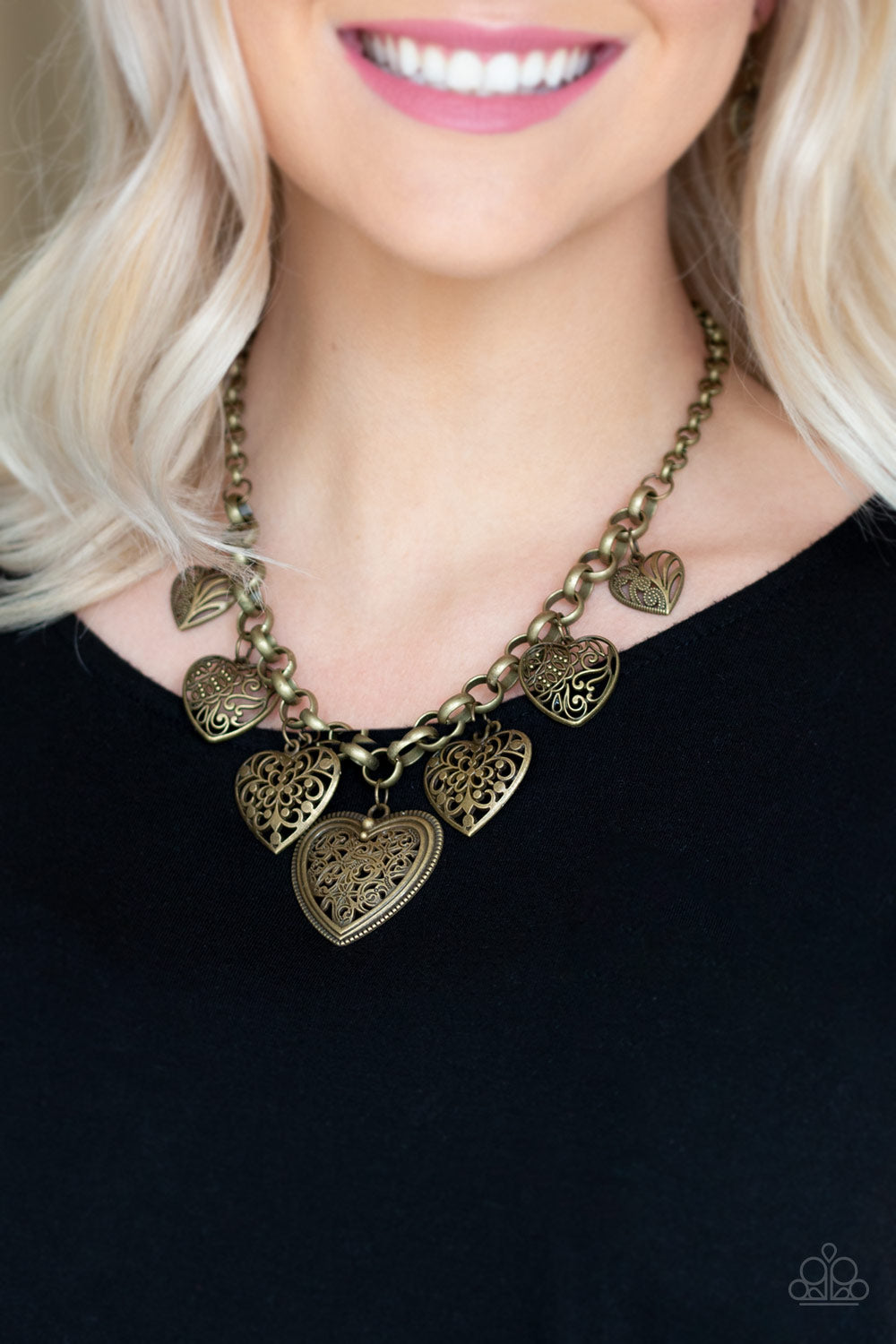 Love Lockets - Brass - Paparazzi Accessories