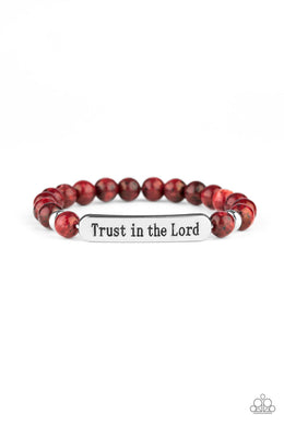 Trust Always - Red - Paparazzi Accessories