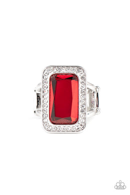 Crown Jewel Jubilee - Red - Paparazzi Accessories
