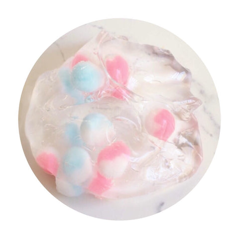 Cotton Candy Boba |Crystal, clear slime