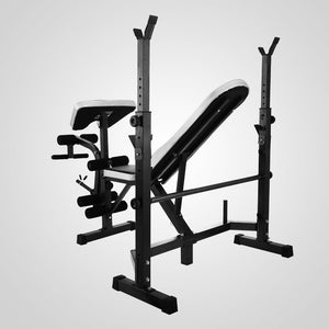 Multi Station Weight Bench Press Leg Curl Home Gym Weights Equipment Adjustable