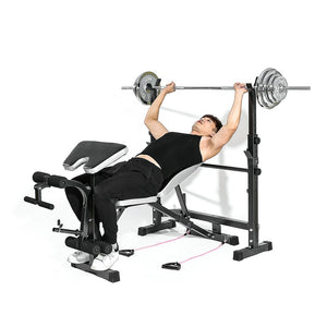 Slimming Home Gym Multi-Station Weight Bench Press Incline Flat Decline Sit Up Bench Weight AB Bench Board Barbell Squat Rack
