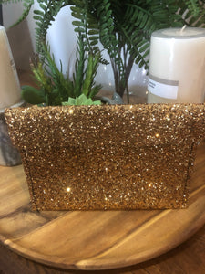 Small faux leather clutch