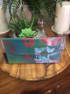 Small canvas clutch