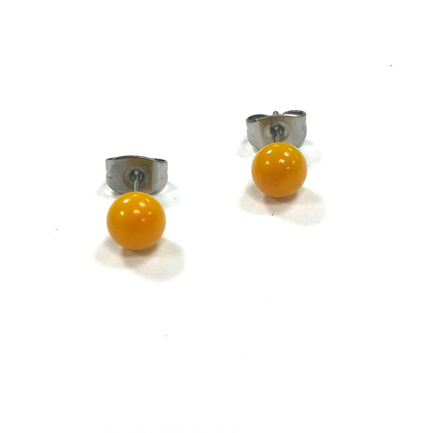 Ochre Handmade Glass Stud Earrings