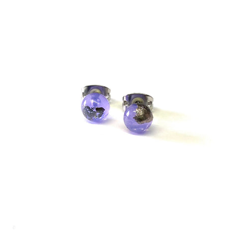 Crocus Glass and Palladium Mini Studs