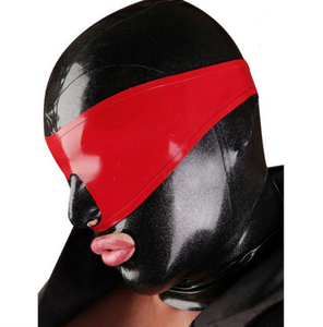 Xtremereckless Latex Rubber Hood with Blindfold Chlorination  BDSM Sex  Sex For Couples  BDSM Mask  BDSM Bondage Fetish Men Sex toys