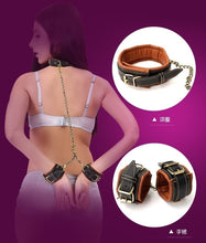Load image into Gallery viewer, Soft BDSM Bondage Set Fetish Sex Slave Neck Collar With Leash Hand Wrist Cuffs Ankle Cuffs Restraint Sex Toy For Couples Adult
