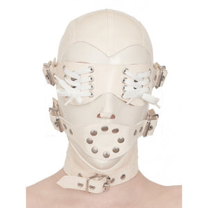 Latex Hood Rubber Gummy Buckles Masks Hood Eyes Mouth Blindfold Customized BDSM Sex  Butt Plug Male Chastity Device