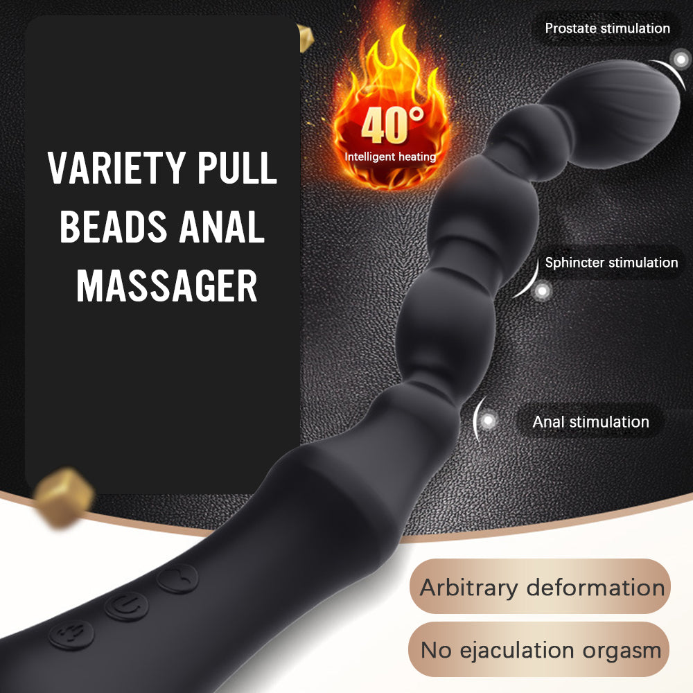 7 Speed Anal Butt Plug Pull Bead Vibrator Prostate Massages Silica Gel Anal Plug Male and Female Masturbation Adult Sex