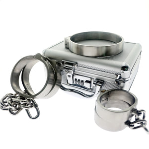 PREMIUM BDSM BONDAGE RESTRAINT SET Bondage Kit Steel Handcuffs For Sex Bondage Restraints Fetish Toys BDSM Slave Tools