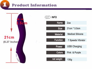Fashion USB Charging Vibrators for Women, Luxury Vibrating Sex Toys for Women Gift, Waterproof G-Spot Sex Products ,