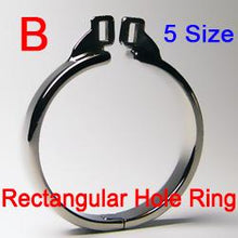 Load image into Gallery viewer, Small Chastity Device Metal Chastity Cage With Penis Rings Stainless Steel Male Cock Rings Bondage Cock Cage Sex Product