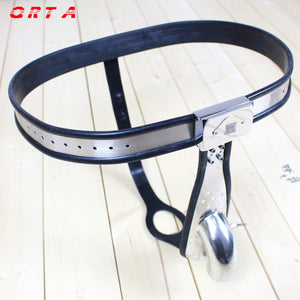 Male Chastity Belt men's Stainless Steel Chastity cage with Removable Anal Bead Plug Master Slave Lockable Penis Restraint Device