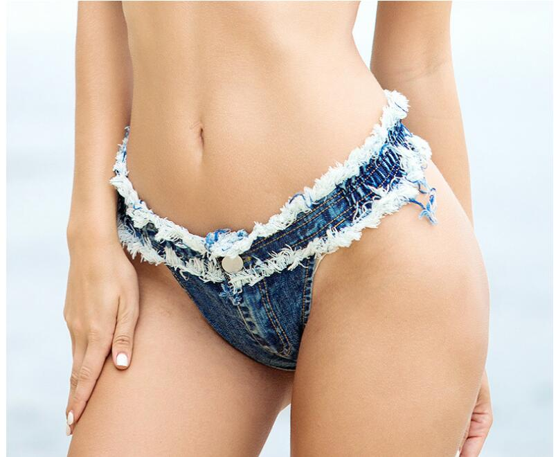 Xtrememasterx New Sexy Denim Shorts Women Short Femme Low Waist Bikini Summer Beach Spandex Micro Mini Shorts Jeans Night Club Wear Thong Jeans