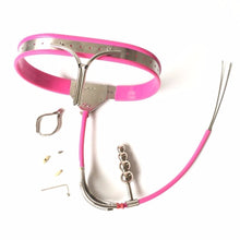 Load image into Gallery viewer, Female Chastity Belt Anal Plug Panty Stainless Steel BDSM Bondage Sex Products Woman Fetish Wear Chastity Device