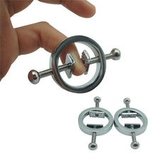 Load image into Gallery viewer, Sex Toys Adjustable Metal Female Torture Play Nipple Clamps Nipple Clips Breast Clip BDSM Bondage Restraint Fetish Adult Games
