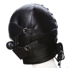 Load image into Gallery viewer, Fetish Hood Headgear With Mouth Ball Gag PU Leather BDSM Bondage Sex Mask Hood Toys Adult Games Sex Product For Couples