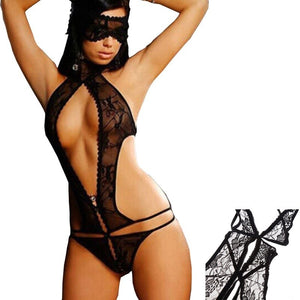Women's Sexy Underwear Lingerie Lace Baby Doll Sleepwear Sheer Dress G String