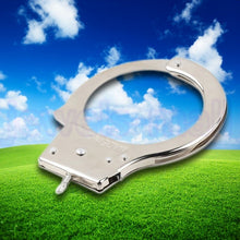 Load image into Gallery viewer, Creative Professional Handcuffs Sliver Steel Police Duty Double Lock Keys