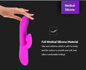 Lovely Luxury G Spot Vibrator Clitoris Sucker, 100% Waterproof Rechargeable Magic Wand Massage, Adult Sex Toys for Woman