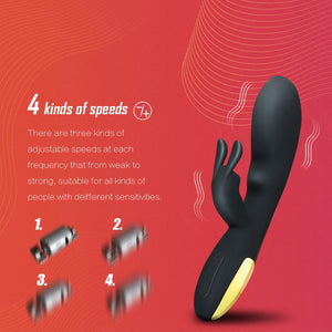 Rabbit Vibrator 10 modes G Spot Vagina Shocker Sex Product USB Rechargeable Female Masturbation Dildo Vibrator Sex Toy for woman