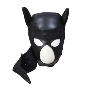 Pup Puppy Play Dog Hood Mask BDSM Bondage Toy Bondage Restraint Hood Mask Fetish Hood Pet Role Play Sex Toys For Couples