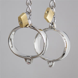Metal Handcuffs For Sex Bondage Erotic Toys Sex Ankle Cuffs Bracelet With Lock Sex Products BDSM Slave Restraint Sex Accessories