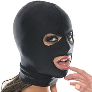 Sexy Toys for Women BDSM Bondage Fetish Mask Hood Open Mouth Eye Bondage Party Mask Cosplay Slave Punish Headgear Adult Game