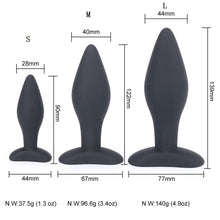 Load image into Gallery viewer, 90/122/139,CM Sexy Black Silicone Anal Plug Massage Adult Sex Toys For Women Man Gay Anal But Plug Set Butt Plugs Sex Products
