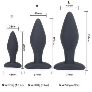 90/122/139,CM Sexy Black Silicone Anal Plug Massage Adult Sex Toys For Women Man Gay Anal But Plug Set Butt Plugs Sex Products