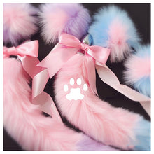 Load image into Gallery viewer, Cute Soft Cat Ears Headbands With Fox Tail Bow Metal Butt Anal Plug Erotic Cosplay Adult Sex Toys Product For Women