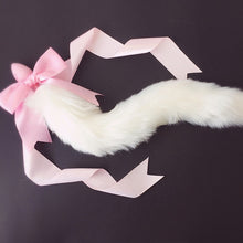 Load image into Gallery viewer, Runny 100% Handmade Lovely Soft Fox Tail Bow Silicone Butt Anal Plug Erotic Cosplay Accessories Adult Sex Toys for Couples