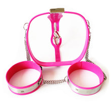 Load image into Gallery viewer, 3in1 Female Chastity Belts+Thigh Rings+Anal Vaginal Plug  Stainless Steel Chastity Underwear Bondage Devices Sex Toys for Women