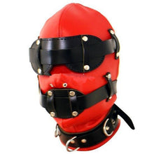 Load image into Gallery viewer, BDSM Bondage Gear Sex Head Hoods with Detachable Mouth Gag Eye Mask Fetish Restraints Adult Sex Toys For Women