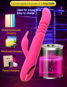 Sex Toys for Woman G-spot Clit Vagina Expansion Stimulation,Female Masturbation Sex Machine Revolving Peristalsis Dildo Vibrator