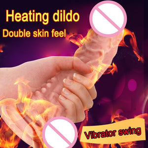 Intelligent Constant Temperature,Rotate,Swing,Vibrator,Remote Control Male Realistic Penis Anal Dildo Female Strap on Sex Machine