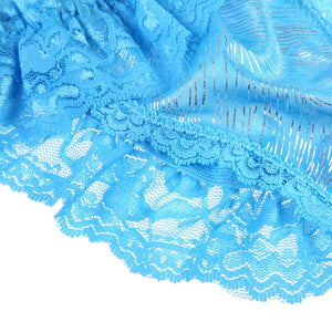 Sexy Lingerie For Women Female Chastity Belt Open Butt Lace Temptation Thong Knickers Briefs Pantles Lingerie Underwear Blue