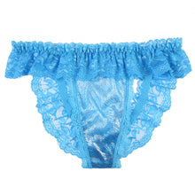 Load image into Gallery viewer, Sexy Lingerie For Women Female Chastity Belt Open Butt Lace Temptation Thong Knickers Briefs Pantles Lingerie Underwear Blue
