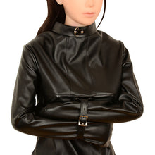 Load image into Gallery viewer, Woman Sexy Erotic Toys BDSM Bondage Sex Products Fetish Slave Bondage Harness Totally Enclosed Hood Mask Conjoined Straitjacket