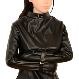 Woman Sexy Erotic Toys BDSM Bondage Sex Products Fetish Slave Bondage Harness Totally Enclosed Hood Mask Conjoined Straitjacket