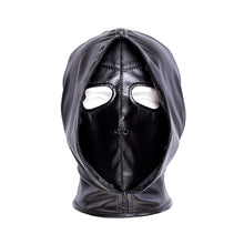 Load image into Gallery viewer, Double layer BDSM Bondage Hood Mask Zipper Closed Erotic Toy, Blackout Mask Blindfold,Head Harness Cosplay Halloween Accessories