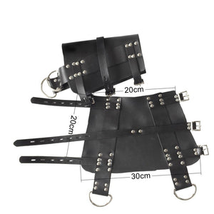 Leather Suspension Special BDSM Bondage Ankle Cuffs Slave Restraint Tools Adjustable Size Sex Toys For Couple Adult Games